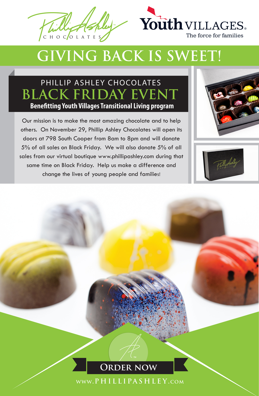 Phillip Ashley Chocolates Offers Sweet Black Friday Deal Benefiting Youth Villages Youth Villages News Success Stories