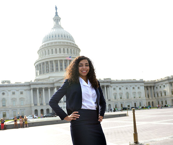 Darrah Hall, a former participant in our transitional living program, recently presented on Capitol Hill.