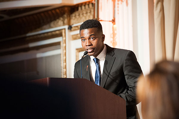 """I once was afraid, but I have found hope and the people at Youth Villages gave me that.  They are truly some of the most heartfelt, genuine humans I have ever met and they will always have a special place in my heart.""  — Jonathan, featured speaker at Youth Villages Spring Celebration"