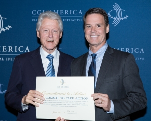 Former President Bill Clinton and Youth Villages CEO Patrick Lawler