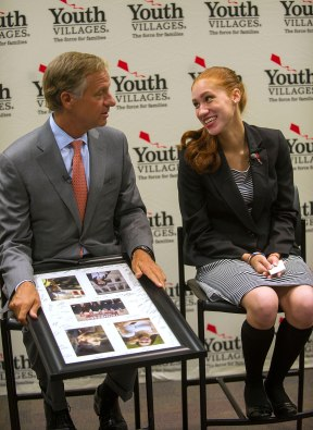Gov. Bill Haslam and Justice Rutherford, a YVLifeSet program participant