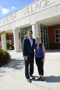Hart with Youth Villages CEO Pat Lawler.