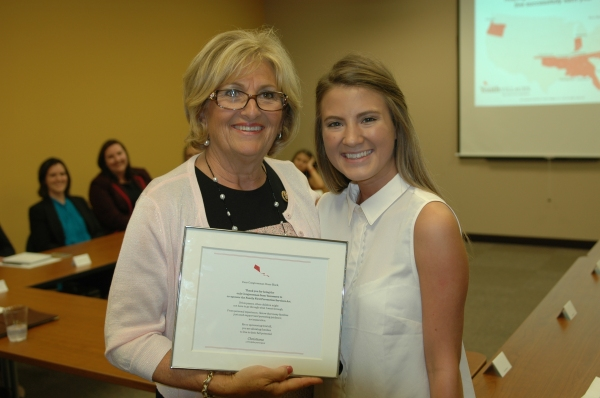 Rep. Diane Black stands with Christiana, a participant in the YV Scholars program